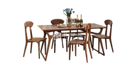 北欧风格实木餐桌椅608