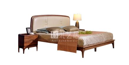 北欧实木卧室家具
