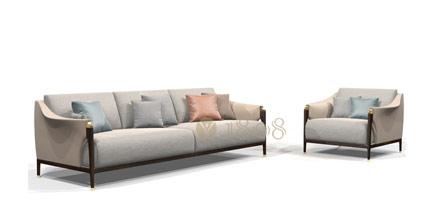 1808实木布艺沙发