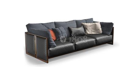 1808牛皮沙发