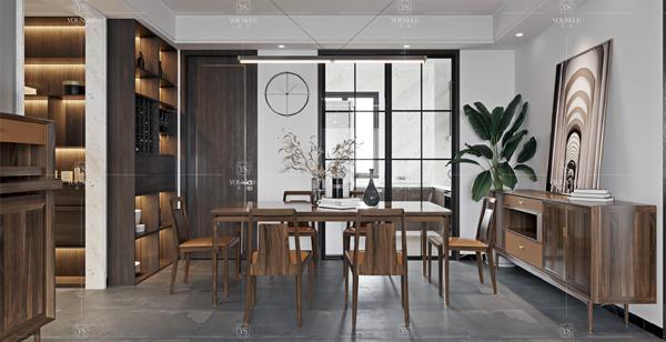 轻奢餐厅家具